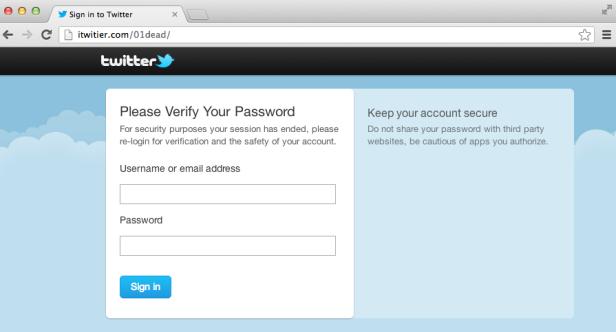 itwitier phishing site